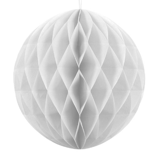 40cm Honeycomb Ball - White